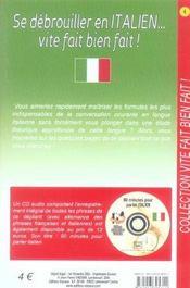 Se debrouiller en italien vite fait bien fait - Intérieur - Format classique