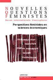 Revue Nouvelles Questions Feministes N.26/2 ; Perspectives Féministes En Sciences Economiques - Intérieur - Format classique