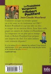 La troisième vengeance de Robert Poutifard - 4ème de couverture - Format classique