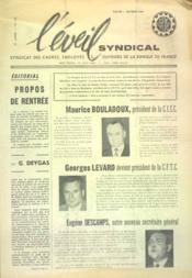 Eveil Syndical (L') N°135 du 01/10/1961 - Couverture - Format classique