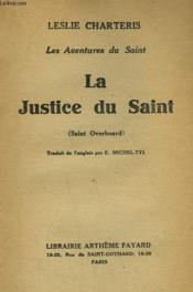 LES AVENTURES DU SAINT. LA JUSTICE DU SAINT. ( Saint Overboard ). - Couverture - Format classique