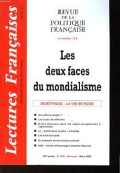 Revue De La Politique Francaise - Mensuel N°539 - Les Deux Faces Du Mondialisme - Couverture - Format classique