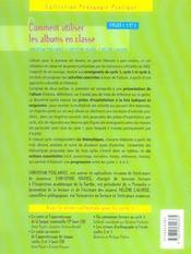 Comment utiliser les albums en classe ; cycles 1, 2 et 3 - 4ème de couverture - Format classique