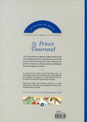 Le prince tisserand ; un conte oriental - 4ème de couverture - Format classique
