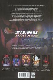 Star Wars - le côté obscur t.2 ; Dark Maul - 4ème de couverture - Format classique