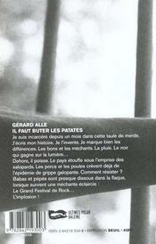 Il Faut Buter Les Patates - 4ème de couverture - Format classique