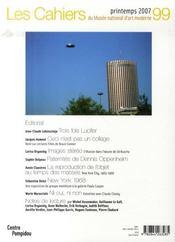 Cahiers du musée national d'arts moderne t.99 - 4ème de couverture - Format classique