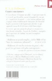 Contes nocturnes - 4ème de couverture - Format classique