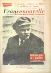 France Nouvelle N°838 du 08/11/1961 - Couverture - Format classique