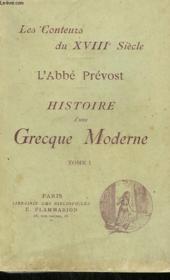 Histoire D'Une Grecque Moderne. Tome 1 . - Couverture - Format classique