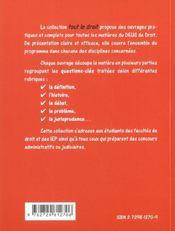 Droit Des Obligations - 4ème de couverture - Format classique