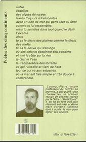 Paysages Pendant La Pluie Poemes De Chair Et D'Autres - 4ème de couverture - Format classique