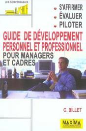 Guide De Developpement Personnel Et Professionnel Pour Managers Et Cadres - Intérieur - Format classique