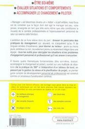 Guide De Developpement Personnel Et Professionnel Pour Managers Et Cadres - 4ème de couverture - Format classique