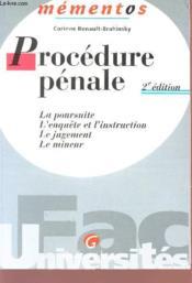 Memento Procedure Penale - Couverture - Format classique