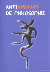 Anti annales de philosophie - Intérieur - Format classique