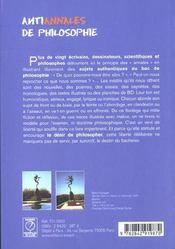 Anti annales de philosophie - 4ème de couverture - Format classique