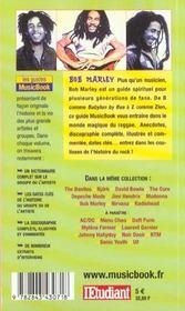 Bob Marley De A A Z - 4ème de couverture - Format classique