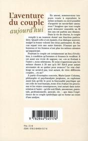 L'Aventure Du Couple Aujourd'Hui - 4ème de couverture - Format classique