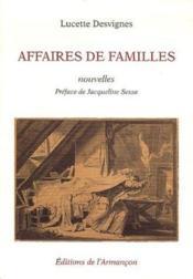 Affaires de familles - Couverture - Format classique