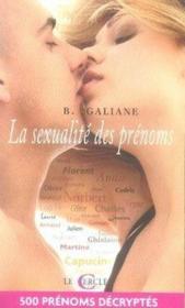 La Sexualite Des Prenoms - Couverture - Format classique