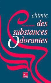 Chimie des substances odorantes - Couverture - Format classique