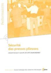 Securite des presses plieuses ; performances resultats des actions collectives 9p77 - Couverture - Format classique