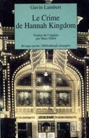 Le crime de Hannah Kingdom - Couverture - Format classique