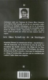 Eaux Troubles De La Dordogne (Les) - 4ème de couverture - Format classique
