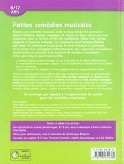 Petites comédies musicales ; 8/12 ans - 4ème de couverture - Format classique