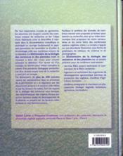 Dictionnaire de la biologie des semences et des plantules - 4ème de couverture - Format classique