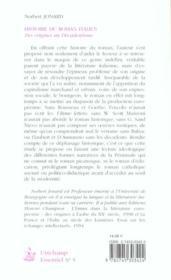 Histoire du roman italien ; des origines au decadentisme - 4ème de couverture - Format classique