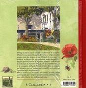 Carnet de paris jardins inattendus - 4ème de couverture - Format classique