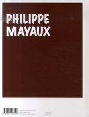 Philippe mayaux - 4ème de couverture - Format classique
