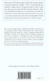 Julien Berger Des Collines (Ae) - 4ème de couverture - Format classique