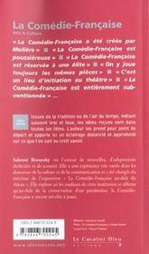 La comedie française - 4ème de couverture - Format classique