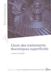 Choix des traitements thermiques superciels ; performances resultats des actions collectives 9p78 - Couverture - Format classique