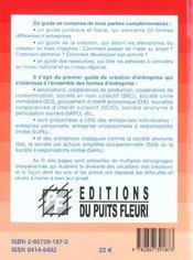Les 20 Formes Juridiques De L'Entreprise. Guide Juridique Etfiscal : Toutes Formes Entreprise.Commen - 4ème de couverture - Format classique