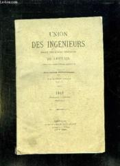 UNION DES INGENIEURS SORTIS DES ECOLES SPECIALES DE LOUVAIN TOME VI 2em SERIE 1912 4em FASCICULE. - Couverture - Format classique
