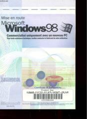 Mise En Route De Microsoft Windows 98 - Couverture - Format classique
