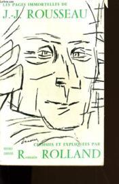 Les Pages Immortelles De J.J. Rousseau. - Couverture - Format classique