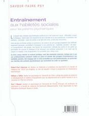 Entrainement Habiletes Sociale - 4ème de couverture - Format classique