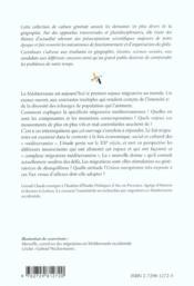 Migrations En Mediterranee - 4ème de couverture - Format classique