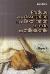 Pratique de la dissertation et de l'explication de texte en philosophie - Intérieur - Format classique