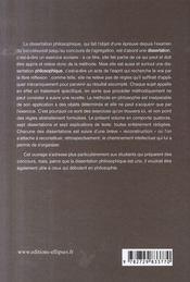 Pratique de la dissertation et de l'explication de texte en philosophie - 4ème de couverture - Format classique