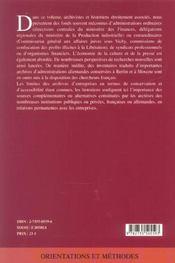 Faire L'Histoire Des Entreprises Sous L'Occupation ; Les Acteurs Economiques Et Leurs Archives - 4ème de couverture - Format classique