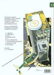 Largo Winch T.5 ; H - 4ème de couverture - Format classique