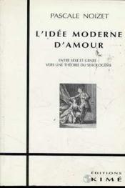 Idee Moderne D'Amour (L') - Couverture - Format classique