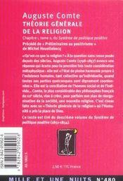 Theorie Generale De La Religion - 4ème de couverture - Format classique