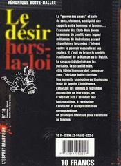 Le Desir Hors La Loi - 4ème de couverture - Format classique